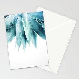 Agave geo fringe - teal Stationery Cards