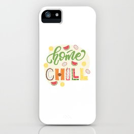 Lettering poster iPhone Case