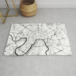 Moscow Map Gray Rug