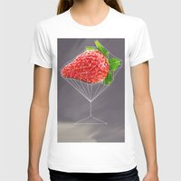 cocktail T-shirts featuring Strawberry cocktail  by Nobra