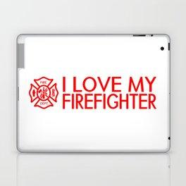 Firefighter: I Love My Firefighter (Florian Cross) Laptop & iPad Skin