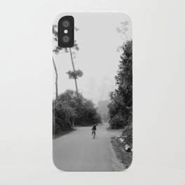 Bike Ride Through the Trees iPhone Case