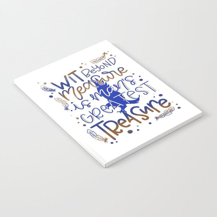Wit beyond measure Notebook
