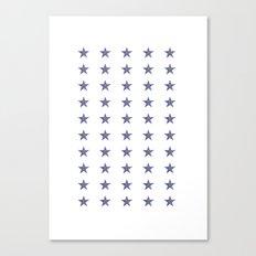 50 Blue Stars Canvas Print