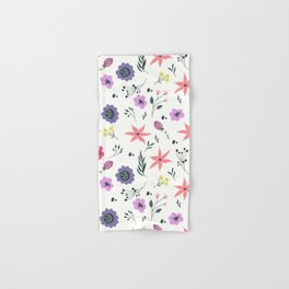 Abstract coral purple violet vector floral pattern Hand & Bath Towel