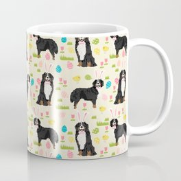 Bernese Mountain Dog easter egg easter bunny dog pattern dog breeds custom art Coffee Mug