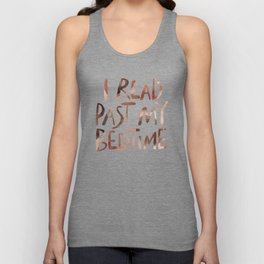 I read past my bedtime - Earthy colors Unisex Tank Top