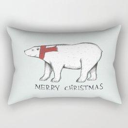 Christmas Polar Bear Rectangular Pillow