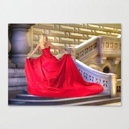 A garota subindo a escadaria Canvas Print