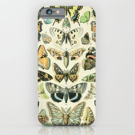Vintage Butterfly Diagram // Papillions by Adolphe Millot XL 19th Century Science Textbook Artwork iPhone Case