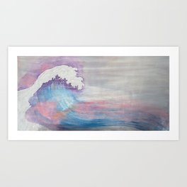 Dreamy wave Art Print