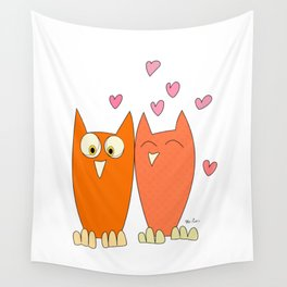 Funny Owls Wall Tapestry