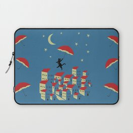 Upton The Cat And His Evening Adventures Laptop Sleeve