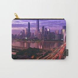 Famous Liede Bridge Pearl River Guangzhou Guangdong China Pazhou Haizhu Tianhe Ultra HD Carry-All Pouch