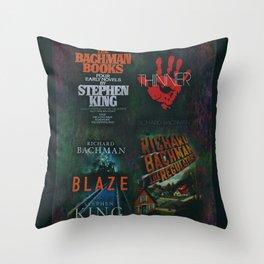 Richard Bachman - Stephen King books Throw Pillow