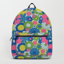 Funky Daisy Floral in Neon Backpack