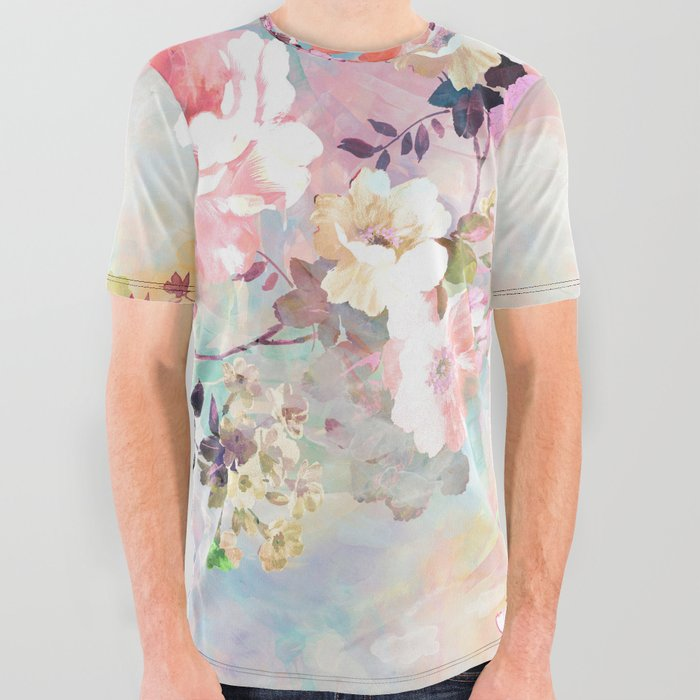 Love of a Flower All Over Graphic Tee
