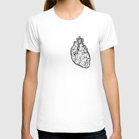 anatomical heart T-shirts featuring Anatomical Heart by Horse and Hare