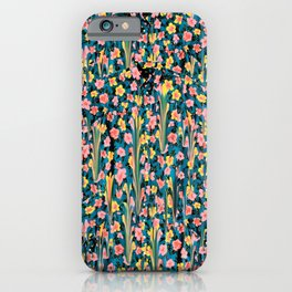 MELTED FLOWERS iPhone Case