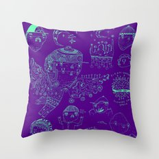 Space sketch Throw Pillow