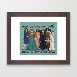 Feminist Agenda Framed Art Print