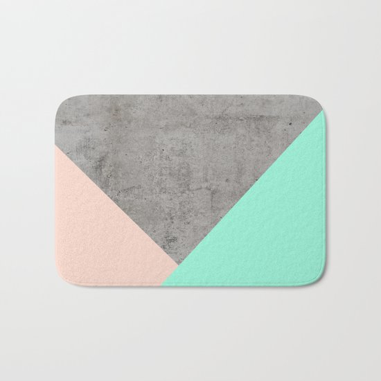 Concrete Collage Bath Mat