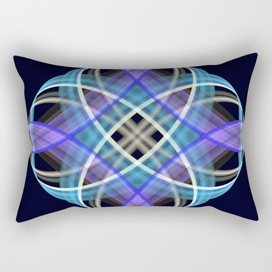 Four points geometric pattern design Rectangular Pillow