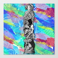 art nouveau Canvas Prints featuring nouveau by manje