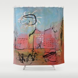 Pink City Shower Curtain