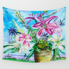 """""""Lillies"""" Wall Tapestry"""