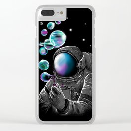 Astronauts and Bubble World Clear iPhone Case