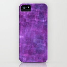Abstract Purple Squares Digital Painting iPhone Case