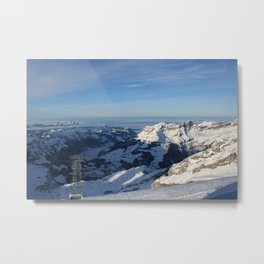 SWISS ALPS ABOVE THE CLOUDS Metal Print