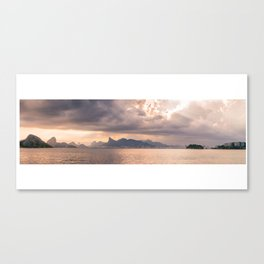 Heavens Burst over Christ the Redeemer Canvas Print