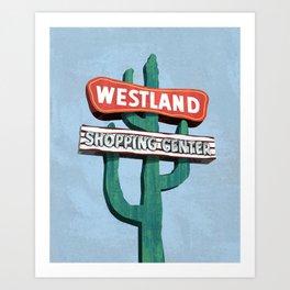 Westland Shopping Center Art Print