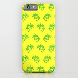 Palm Tree Pattern - Yellow iPhone Case