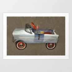 Tee Bird Pedal Car Art Print