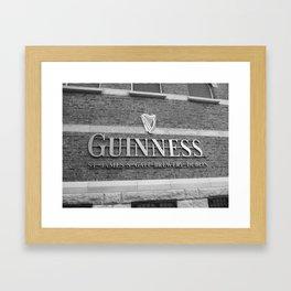 Guinness Storehouse - Black & White Framed Art Print