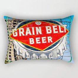 Grain Belt Beer Sign Rectangular Pillow