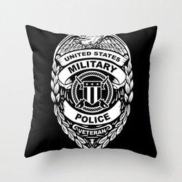 U.S. Military Police Veteran Security Force Badge Throw Pillow