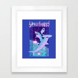 Space Sharks! Framed Art Print