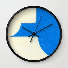 Driveway in Blue Wall Clock