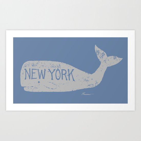 Antique Whale - New York Art Print