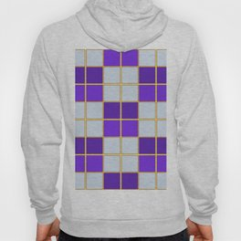 Purples and blues check Hoody
