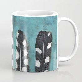 Blue black and white feathers woodpecker Coffee Mug