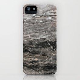 Smokey gray marble iPhone Case