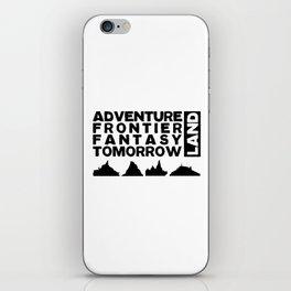 The Mountains (Black Print) iPhone Skin
