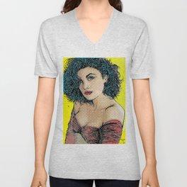 Twin Peaks Pop Art Audrey Horne Unisex V-Neck