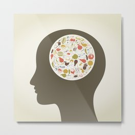Head food4 Metal Print