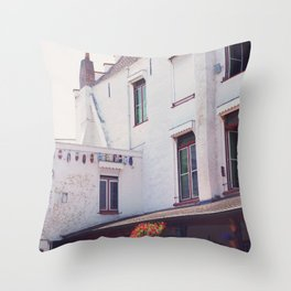 Clogs on the Wall Throw Pillow